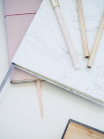 Photo of flat lay office supplies