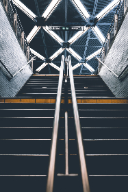 city,   stairs,   urban,   concrete,   design,   architecture,   wall,  subway,  metro,  steps,  brick,  sign,  commute,  cement,  pedestrian, lights, glow, industrial