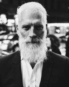 people, man, old, beard, hair, white, black and white, monochrome, formal, tuxedo