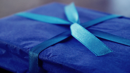gift,  present,  wrapping,  bows,  parcel,  blue,  ribbon