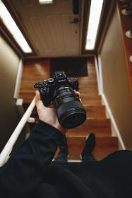 sony, dslr, camera, lens, black, photography, blur, stair, house, people, photography