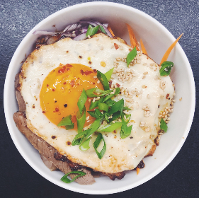 food,  asian cuisine,  donburi,  steak,  rice,  egg
