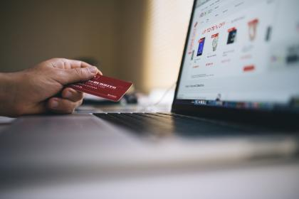 ecommerce, shopping, credit card, payment, money, laptop, computer, hand