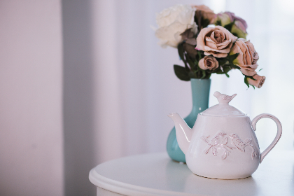 tea,   pot,  flowers,  table,  white,  drink,  food,  nature,  plants,  vase,  house,  home