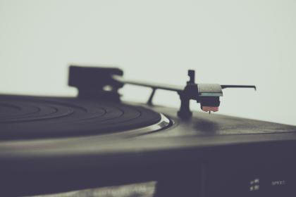 still, items, things, record, players, turntables, retro, phonography, bokeh