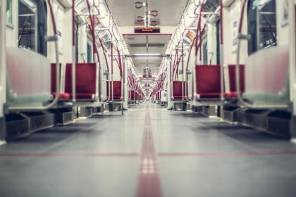 train, station, subway, empty, floor, sits, transportation, vehicle