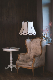 vintage,  chair,  lamp,  table,  room,  house,  home,  armchair,  plant,  flower