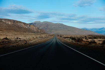 rural, road, countryside, desert, highway, sky, clouds, mountains, landscape, nature