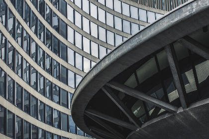 free photo of curved   building