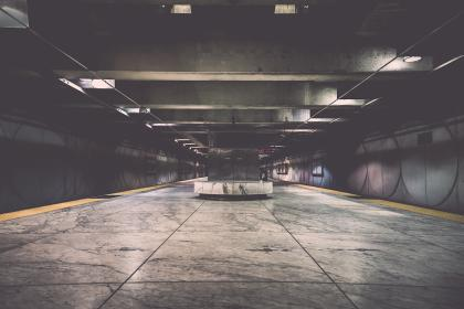 building, infrastructure, station, concrete, gray, lights