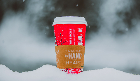 starbucks,  coffee,  warm,  winter,  snow,  nature,  outdoors,  Christmas,  cold,  bright,  frost