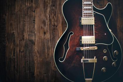 electric, guitar, music, instrument, wood