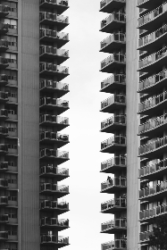 apartment,  abstract,  balcony,  terraces,  monochromatic,  view,  apartments,  living,  city,  tall,  buildings,  urban,  architecture,  modern,  structure,  windows