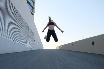 fitness,  woman,  jumping,  street,  road,  lycra,  healthy,  fit,  run,  jog