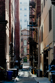 city,   fire,   escape,   buildings,   alley,   windows,   apartments,   brick,   tall,   stairs,   narrow,   exterior,   architecture,   urban,   downtown,  trash