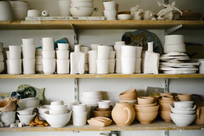 ceramics, pottery, workshop, shelves, shop