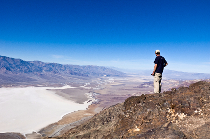 death valley,  dante view,  desert,  valley,  top,  dominate,  travel,  overlook,  oversee,  panorama,  person,  hiker