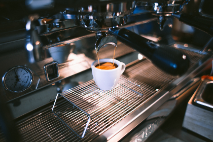 espresso,   coffee,   machine,   bar,   restuarant,   black,   coffee cup,   cup,   drink,   equipment,   espresso,   gauge,   lever,   stainless steel