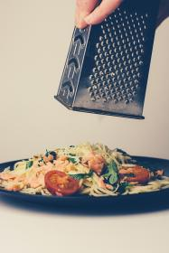 food, spaghetti, pasta, lunch, dinner, grater, cheese, plate