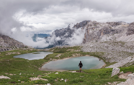 dolomites,   hiker,   landscape,   rock,   girl,   italy,   hiking,   alps,   nature,   mountain,   travel,   valley,   view,   gardena,   person,   summer,   outdoor,   looking,   vacation,   high,   clouds,   male,   path,   peak,   trail,   traveler,   backpacker,   italian,   beautiful,   edge,