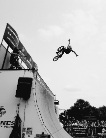 bmx, stunt, ramp, speed, sport, adventure, jump, black & white, air, bike, cycle, bicycle