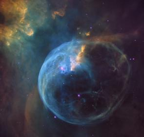space, bubble, nebula, constellation, cassiopeia