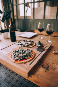 free photo of pizza   wine