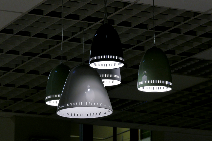 Photo of industrial lights