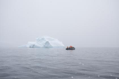 nature, water, ice, berg, people, boat