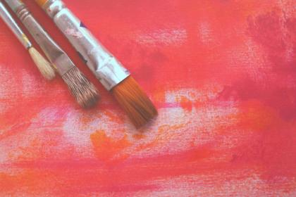painting, paint, paintbrush, art, design, canvas, brush, red