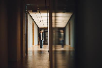people, man, teen, fashion, reflection, blur, hallway, alone, building