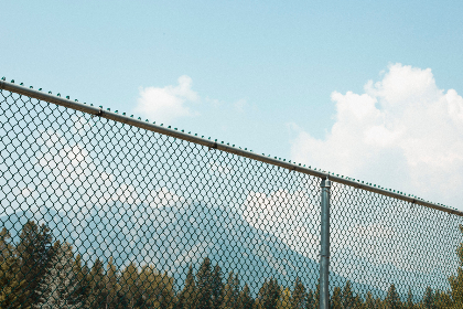 tennis,  fence,  sports,  mountains,  hip,  indie photo,  sporty,  rocky mountains, sky, clouds, summer, sunshine, trees