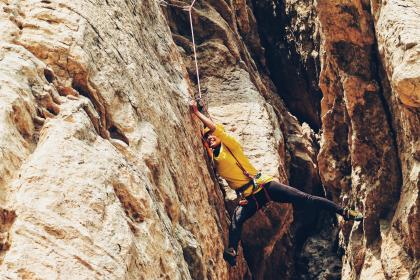 rappelling, rocks, hill, cliff, people, girl, adventure, outdoor, travel, sport