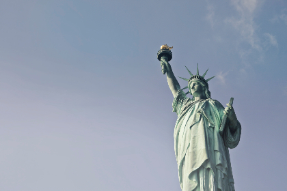 Statue of Liberty,   NYC,   new york,   city,   architecture,   statue,   blue sky,   monument,   torch,   tourism,   usa