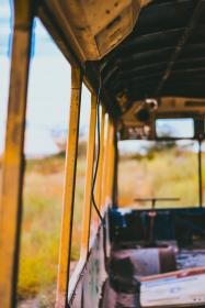 nature, green, grass, bus, old, vintage, recycled, windows, damp