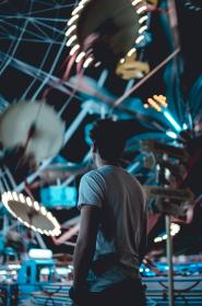 people, man, ride, ferris wheel, amusement park, celebration, happy