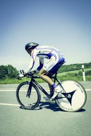 mountain, bike, blue, sky, people, man, ride, bicycle, cyclist, racing, sport, game, sunny, day, road, speed, fitness, exercise