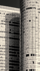 city,  buildings,  windows,  close up,  skyscrapers,  downtown,  urban,  offices,  workplace,  architecture,  desaturated