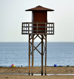 free photo of beach  lifeguard