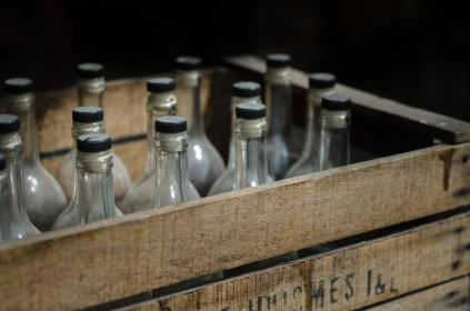 vintage, crate, glass, bottles, beer, objects, drinks