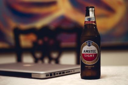amstel, brewery, beverage, laptop, computer, electronic, technology