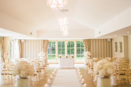 wedding ceremony, reception, celebration, romantic, love, chairs, tables, white, hall