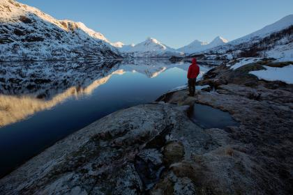 nature, landscape, water, man, people, photography, travel, mountains, snow, alps, cold, reflection, blue