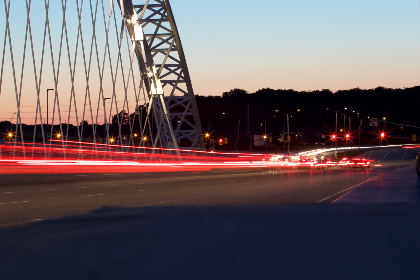 motion,  city,  lights,  traffic,  bridge,  cars,  horizon,  movement,  travel,  sky,  road,  speed,  night,  highway,  abstract,  urban,  trail,  blur