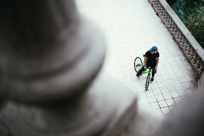 top,  bike,  person,  riding,  creative,  above,  cycling,  sport,  exercise,  commute,  transport,  male,  youth