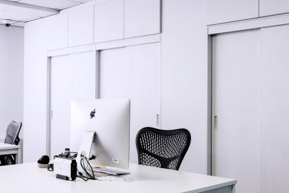 computer, keyboard, apple, electronics, modern, technology, business, office, school, work, desk, table, library, office, education, chair, windows, white
