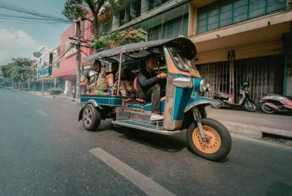 thailand, tuktuk, road, vehicle, transportation, people, passengers