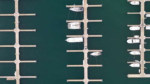 aerial,  boats,  water,  marina,  sea,  outdoors,  above,  top,  flying,  drone,  pier,  dock,  anchor,  harbor,  nautical,  travel,  vacation
