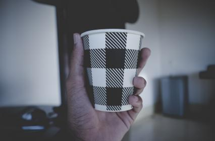 cup, hand, palm, drink