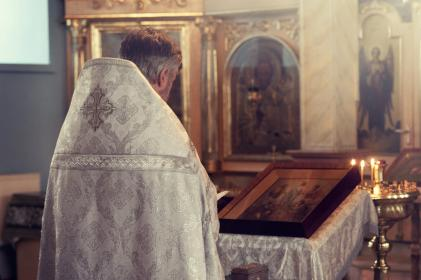 priest, back, church, holy, candle, frame, steel, statues, jesus